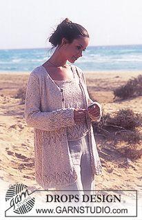 DROPS trøje og top i Silke-Tweed med hulmønster ~ DROPS Design