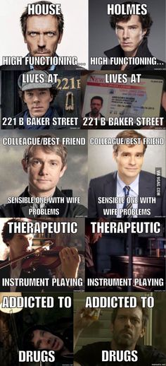 Everybody lies, how could I be so blind? This is probably a late brainfart... HOUSE WAS MEANT TO BE A MEDICAL EXPY OF SHERLOCK HOLMES, YOU UNDANK MEME