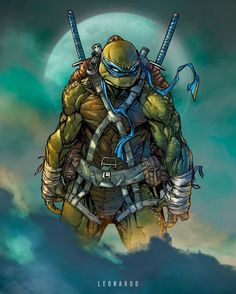 MNT Teenage Mutant Ninja Turtles project with Raymond Gay (inks) and my colors Leonardo Paciarotti Di Maggio Leonardo! idwpublishing Hope you like! Comic Book Characters, Comic Character, Comic Books Art, Comic Art, Arte Dc Comics, Bd Comics, Ninja Turtles Art, Teenage Mutant Ninja Turtles, Nija Turtles
