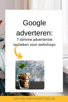 Adverteren op Google kan soms niet de gewenste resultaten opleveren als wat je in gedachten had. Je stopt er veel budget in, maar er komen veel te weinig bezoekers naar je webshop. Of je krijgt wel veel klikken, maar je budget gaat er razendsnel doorheen. Ben jij een webshop en voel je je aangesproken?Maak gebruik van deze 7 tactieken in Google Ads en je krijgt meer leads/klanten voor hetzelfde budget! #googleadwords #onlinemarketing #sea Google Ads, Online Marketing, Banners, Tips, Banner, Posters, Bunting, Counseling