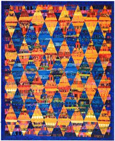 """Quilt Inspiration: Q.I. Classics: Quilts of Guatemala """"Reflections"""" by Priscilla Bianchi.  Tutorial at Simply Quilts  http://www.hgtv.com/archive/guatemalan-reflections-quilt/index.html"""