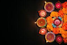 Happy diwali -hindu festival, colorful traditional oil lamp diya on black Premium Photo Diya Decoration Ideas, Diwali Decorations, Festival Decorations, Hindu Festival Of Lights, Hindu Festivals, Diwali Gifts, Happy Diwali, Diwali Story, Diwali Hindu