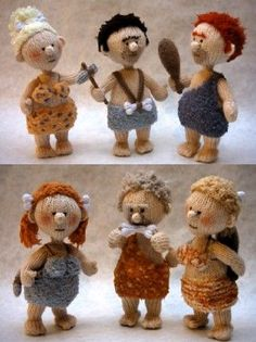 Knitted cavemen and cavewomen! You must go see his site! All patterns available for purchase (pdf download).