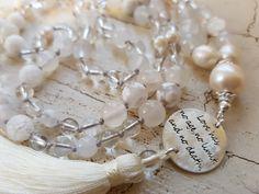 Mala Liebe Kette Diese Kette kann individuell bei uns bestellt werden! Pearls, Necklaces, Love, Schmuck