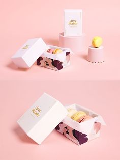 Avec Plaisir – Café and Pâtisserie With Pleasure – Coffee and Pastry. Branding and Packaging. Macarons and sweets boxes. Cake Boxes Packaging, Macaron Packaging, Brownie Packaging, Dessert Packaging, Bakery Packaging, Food Packaging Design, Chocolate Packaging, Packaging Design Inspiration, Brand Packaging