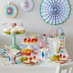 Toot Sweet Harlequin Party Collection  | The Land of Nod--maybe a vintage Disneyland party starring Mickey and Minnie??