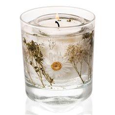 Cotton Flower Gel Tumbler Candle