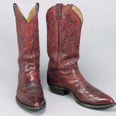 Men's Justin Cowboy Western Ranch Boots size 10 D #Justin #CowboyWestern