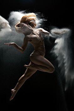 Powder Dance.  Wow.  It looks like she has wings.