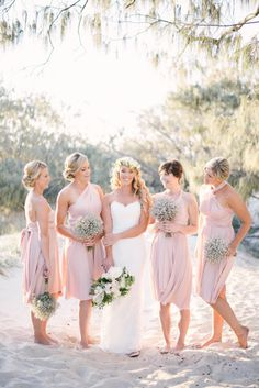 Beach beauties #bridesmaidsdresses #bridesmaids #bride