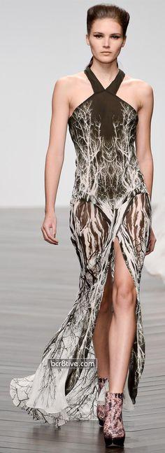 Maria Grachvogel FW 2013 - Tree Pattern Maxi Dress - http://www.mariagrachvogel.com/
