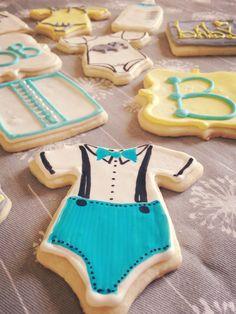 sugar baby | beauty & the butcher Baby boy sugar cookies royal icing baby shower diy cute