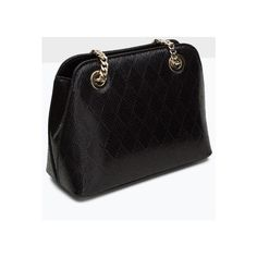 Black Diamond Patterned PU Shoulder Bag (32 PAB) ❤ liked on Polyvore featuring bags, handbags and shoulder bags