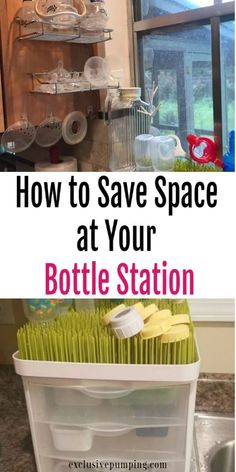 Tips for Organizing Bottles and Breast Pump Parts - Exclusive Pumping - Bottle . - Tips for Organizing Bottles and Breast Pump Parts – Exclusive Pumping – Bottle station ideas! Baby Bottle Organization, Baby Bottle Storage, Organizing Baby Bottles, Nursery Organization, Baby Feeding Chart, Baby Feeding Schedule, Exclusively Pumping, Breastfeeding And Pumping, Baby Led Weaning