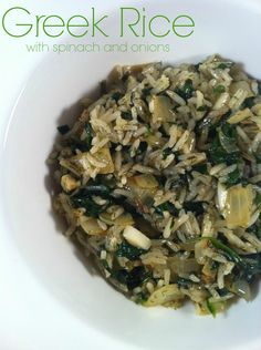 "Greek Rice | This dish is not only loaded with veggies, but also healthy fats from the bone broth and butter (which slows the absorption of glucose). It's the perfect side dish. To keep low carbs substitute 2 cups of cooked cauliflower rice. However, do not add until other ingredients have been sufficiently cooked because you don't want the ""rice"" to be too soft."