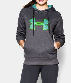 Women's UA Storm Armour® Fleece Big Logo Hoodie | Under Armour US XL CARBON HEATHER