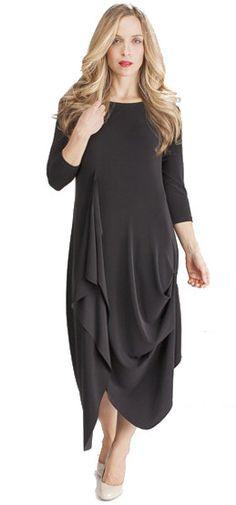 Sympli 3/4 sleeve drama dress