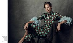 Christy Turlington gets dolled up in black on the March 2017 cover of Harper's Bazaar Spain. The 48-year-old beauty poses in a leather dress from Dior's spring collection with Manolo Blahnik heels. In the accompanying spread, Christy poses for Norman Jean Roy in the glossy studio portraits. Stylists Kristen Ingersoll and Juan Cebrián dress the …