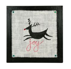 "25 Days of Christmas 2012: Day 2 - ""Joy"" Reindeer Canvas"