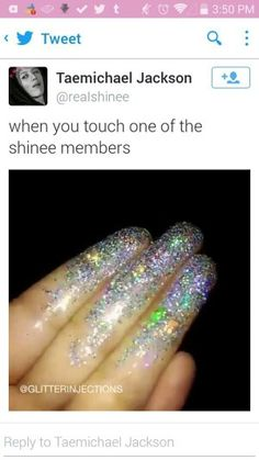 when you touch one of the shinee members