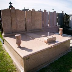 Cemetry Double Monuments Grave Monuments