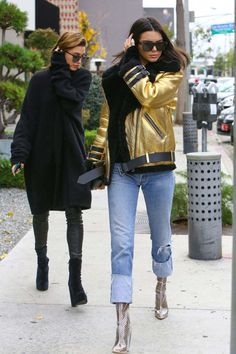 Kendall Jenner And Hailey Baldwin Out In West Hollywood