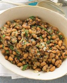 Hearty Black-Eyed Peas - I've made this for the past two New Year's Days and they turned out really pretty good.  Much better than plain ones.  I've actually taken to fixing it as a regular side dish.