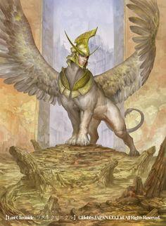 Manticore by douzen on DeviantArt Weird Creatures, Fantasy Creatures, Mythical Creatures, Fantasy Kunst, Fantasy Art, Mythological Animals, Manticore, Green Man, Mythology