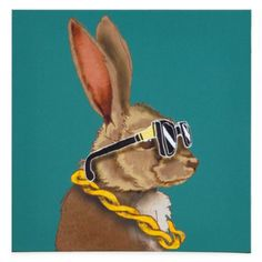 "Not sure, but this ""Hipster animal"" series could be fun…"
