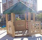 Lots of cool small playhouses here organized by manufacturer Park Playground, Playhouses, Gazebo, Architecture Design, Outdoor Structures, Cool Stuff, Outdoor Decor, Home Decor, Deck Gazebo