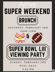 We're celebrating the big game all weekend! Join us for brunch on Saturday and a viewing party on Sunday. Pet Friendly Apartments, Two Bedroom Apartments, Apartment Communities, Big Game, Houston Tx, Brunch, Join, Sunday, River
