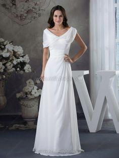 A-line V-neck Wedding Dress