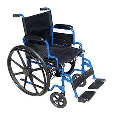 DRIVE MEDICAL BLUE STREAK 18 INCH WHEELCHAIR | Better Senior Living