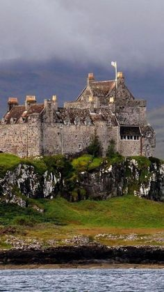 The Duart Castle of the McClains on the Isle of Mull Scotland