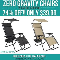 These are the new upgrades on the very popular zero gravity chairs on super low clearance and Free Shipping go get yours click the link in my bio @tomorrowsmom .  Facebook friends go to http://ift.tt/2aIdDPm #frugal #savings #deals #cosmicmothers #feminineenergy #loa #organic #fitmom #health101 #change #nongmo #organiclife #crunchymama #organicmom #gmofree #organiclifestyle #familysavings #frugal #healthyhabits #lifechanging #fitpeople #couponcommunity  #healthyppl #motherhood…