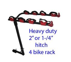 Heavy Duty 4 Bike Rack Mount Fit 2'' Or 1/4'' Hitch, 2015 Amazon Top Rated Bike Racks & Stands #Sports
