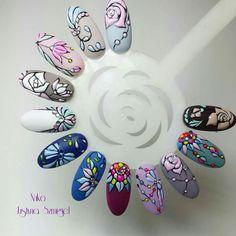 Perfect Nails, Gorgeous Nails, Pretty Nails, Gel Designs, Nail Art Designs, Garra, Nail Drawing, Geometric Nail Art, Modern Nails