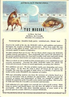 Items similar to Vintage Indian Astrology postcard: The Makara; from Zodiac Unlimited on Etsy Zodiac Unlimited Indian astrology postcard: The Makara Name Astrology, Chinese Astrology, Vedic Astrology, Numerology Calculation, Numerology Chart, Numerology Numbers, Tarot, Indiana, Expression Number