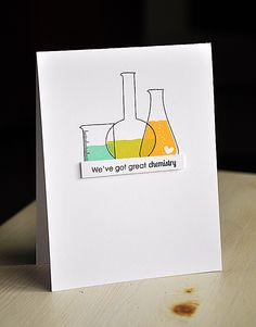Great Chemistry Card by Maile Belles for Papertrey Ink (December 2012)