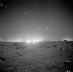 23 October 1942, El Alamein. The horizon lights up with the opening Allied barrage of Operation Lightfoot. 882 field and medium guns fired a total of about 529,000 shells in five and a half hours.