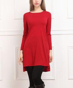 Look what I found on #zulily! Red Hi-Low Dress - Women #zulilyfinds
