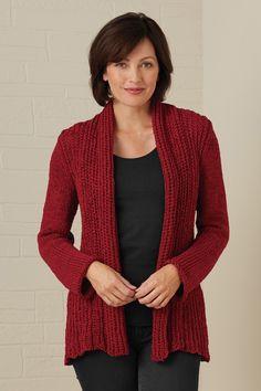 Pure Handknit Fair Trade Appealing Cardigan - Sweaters - Women