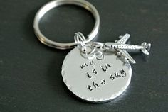 My Heart Is In The Sky Plane Pilot Keychain by AshleyLorrenDesigns, $12.00