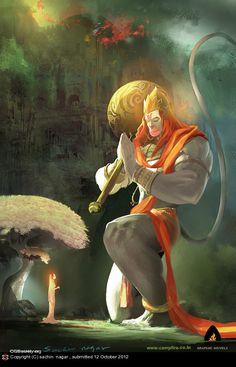 Hanuman, the mighty incarnation of Lord Shiva, and the greatest devotee of Lord Rama. He is the ultimate embodiment of devotion and selfless service. Shiva Art, Shiva Shakti, Krishna Art, Rudra Shiva, Shiva Hindu, Lord Hanuman Wallpapers, Hanuman Images, Hanuman Photos, Hanuman Chalisa