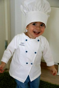 Chef costume for my sweet baby boy!