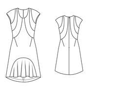 Sukienka z zaokrąglonymi szwach - numer wzorca 122 Magazine 9 2014 Burda -  wzory na 5c24dcde1ea
