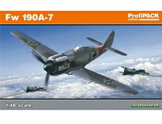 The Eduard Focke Wulf Fw 190A-7 Model Kit in 1/48 scale from the plastic aircraft model kits range accurately recreates the real life German fighter aircraft flown during World War II. This Eduard aircraft model requires paint and glue to complete.