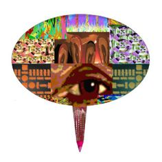 AN EYE for Art : Elegant Miniature Art Collage Cake Pick