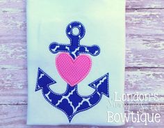 This is an embroidery file, NOT a patch. You must have an embroidery machine to use these designs. **Adorable with a name added to it! Names are not included, you will have to add your own*** Embroidery Files, Machine Embroidery Designs, Love Machine, Embroidered Gifts, Shirt Pins, Nautical Anchor, Whats New, Iron On Patches, All Design