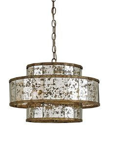 A new bestseller from Currey & Company, with fabulous mercury glass.